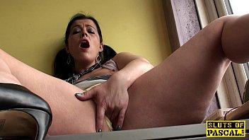 mature brit skank frigging her moist.