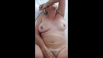 60 year elderly grandma enjoys guy sausage - homemade