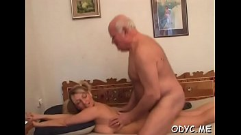 Younger slut is ready to take some old dick up her wet cunt