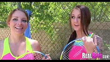 school damsels tennis match turns to.