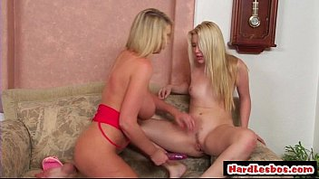 Busty Lesbian Blonde Licking Teen Pussy 28