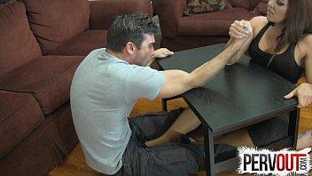 palm grappling foot job punching sack damsel dom hj