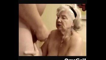 89 years elder grannie inhale poke-stick