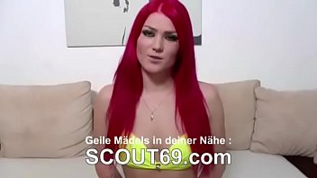 German Blond Teen in Real Porn Casting at Berlin