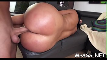 Lusty playgirl gets her taut anal canal stretched to the max
