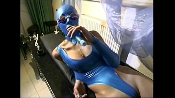 phat-boobed gimp female plays with a.