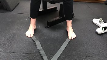 Blonde Milf Barefoot Workout Part 1- www.prettyfeetvideo.com