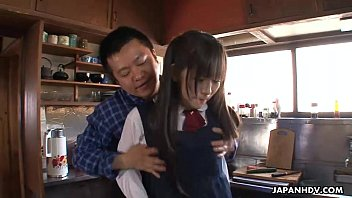 japanese homeless teenager has a plumb with her saviour