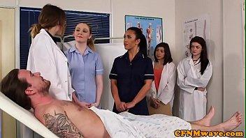 British CFNM nurses cocksucking patient
