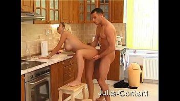 blonde gf boned in kitchen