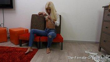 Sweet Blonde Teen Solo Masturbation to Orgasm