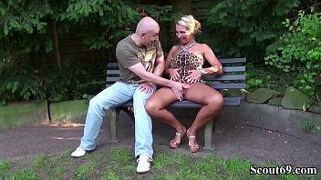 german ample bosoms cougar entice stranger to shag.