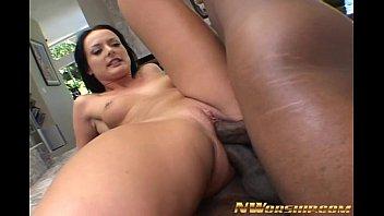 2 black cocks for horny slut double penetration fuck
