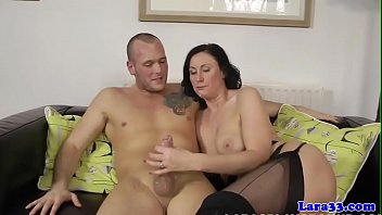 english cougar close-up jizzed in facehole