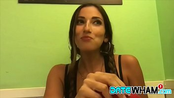 Beautiful amateur chick Stephanie gives incredibly sensual blowjob after date