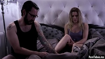 Teens hairy pussy fucked by a weird spying guys hard cock
