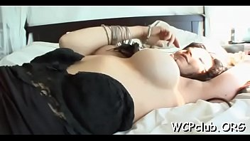 White cutie is fond of having sex with hugecocked ebon stud