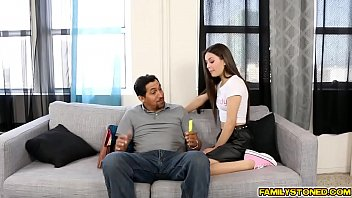 lucy femmes gullet tucked with step dads gigantic weenie