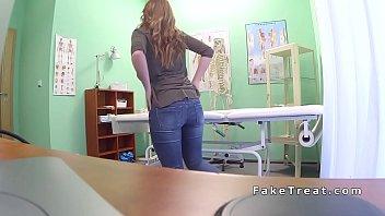 ebony-haired sits on and rails medics.