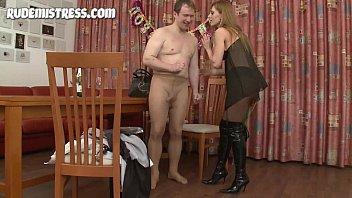 femdom babe dominates amateur guy