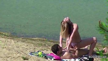 spycam youthfull german duo shag at beach of hamburg
