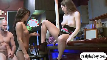 two diminutive gals get drilled in.