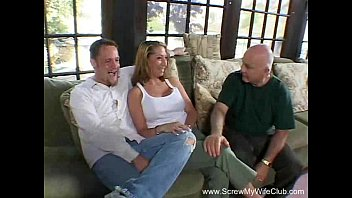 swinger wifey humps trio studs at once while.
