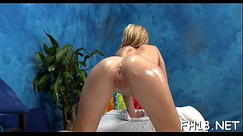 Hot and sexy 18 year old playgirl gets screwed hard from behind from her massage therapist
