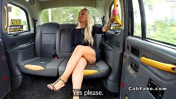 Big ass blonde anal banged in fake taxi