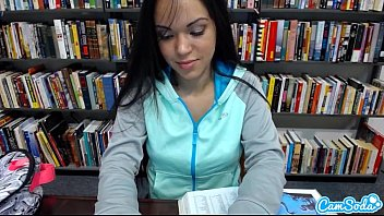 marvelous teenage latina gets nude and caresses her.