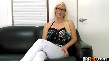 blondie nerdy chick with glasses crazy moist and.