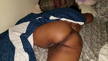 sleeping monstrous ass cougar step stepdaughter wakes up.