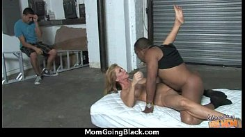 milky crazy mommy in interracial stiff.