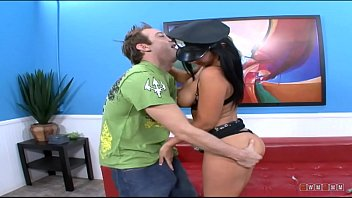 nasty girl cop rails a meat gun till.