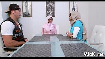 obscene arab bi-otches graciously participate in a terrific three-way