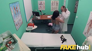 faux medical center inked ultra-cutie unloads and climaxes.