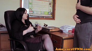 office cfnm chick dominance deepthroating coworkers.