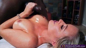 immense-chested ash-blonde masseuse likes a gigantic ample ebony.