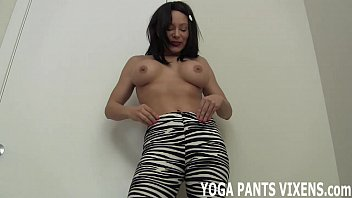 these zebra print yoga pants will get you.