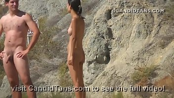 Asian teen naked on the beach fully nude in public showing her smooth pussy!