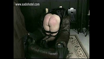 nun sub with her undies down is spanked.