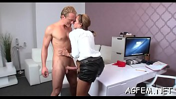 pussy of girl agent is fuked.