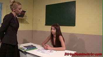 schoolteacher dominatrix dildoing subordinated student