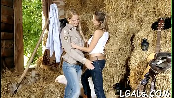 Four angels who love lesbian fun are fingering and licking