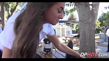 steamy nubile school damsel bus pulverize.