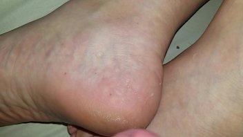 jizm on sleeping wife039_s feet