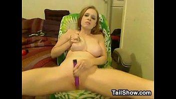 crazy webcam lady luvs her plaything