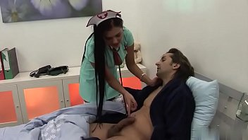 the hottest clinic smash with nurse.