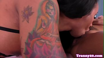 inked transsexual enjoyments her chinese gf