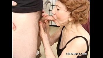 grandmother hard-core with a youthful man